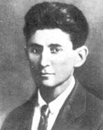 Nhà văn Franz Kafka.