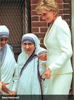 Mẹ Teresa và Diana