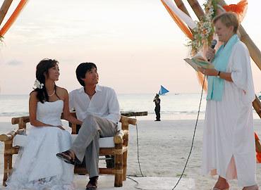 Đám cưới đơn giản của Trịnh Hội và Kỳ Duyên tại Philippines. Ảnh do nhân vật cung cấp.