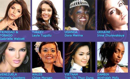 Trang Globalbeauties đưa tin Thùy Dung là gương mặt đại diện Việt Nam tại Miss World 2008. Ảnh: GB.