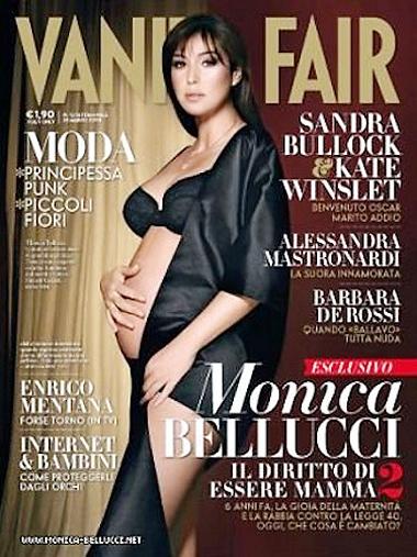 Monica Bellucci vẫn gợi cảm với bụng bầu. Ảnh: VF.