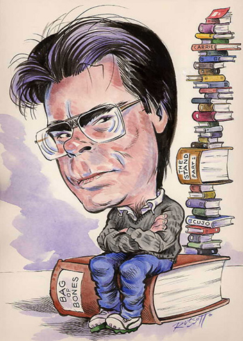 Chân dung nhà văn Stephen King. Ảnh: Guardian.