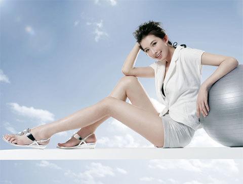 Lâm Chí Linh sở hữu đôi chân đẹp nhất showbiz Hoa ngữ và là một trong những mỹ nhân đẹp nhất Đài Loan.