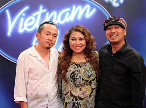 Ba vị giám khảo của Vietnam Idol. Ảnh: Bon Bon.