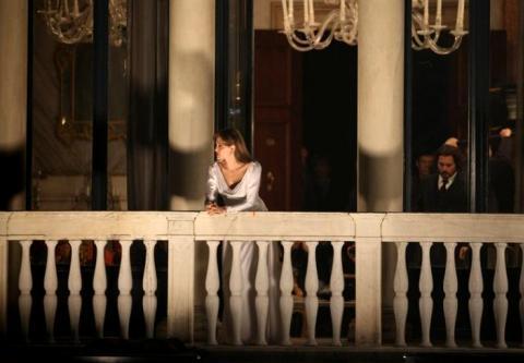 Johnny Depp và Angelina Jolie trên trường quay
