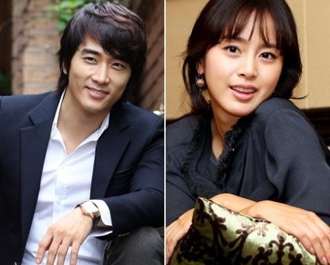 Song Seung Hun và Kim Tae Hee. Ảnh: Nate.