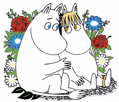 Mumi (tiếng Phần Lan Moomin) và người bạn Snorkmaiden.