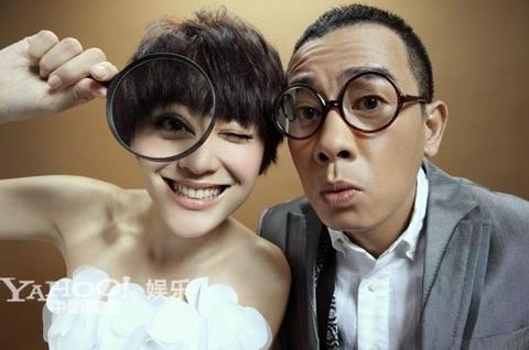 Trần Tiểu Xuân và cô dâu Ứng Thái Nhi. Ảnh: