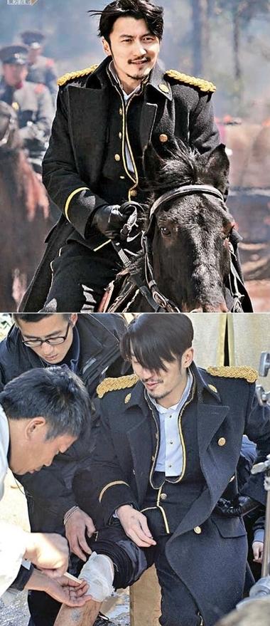Tạ Đình Phong oai phong cưỡi ngựa và rồi bị ngựa đá.