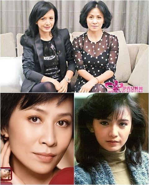 Đôi bạn thân một thời Tăng Hoa Thiên - Lưu Gia Linh bây giờ (ảnh trên) và ngày trước (hai ảnh dưới).