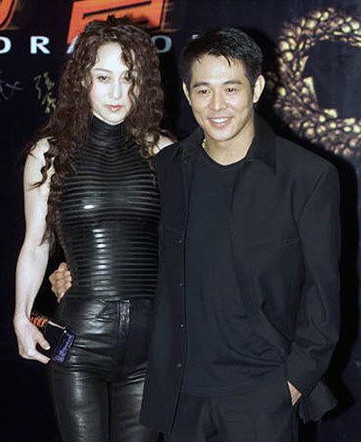 Lý Liên Kiệt và người vợ hai - diễn viên Lợi Trí.