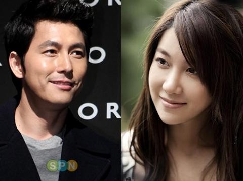 Hai diễn viên Jung Woo Sung và Lee Ji Ah. Ảnh: SPN.