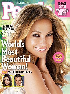 Jennifer Lopez trên bìa tạp chí People số mới nhất.