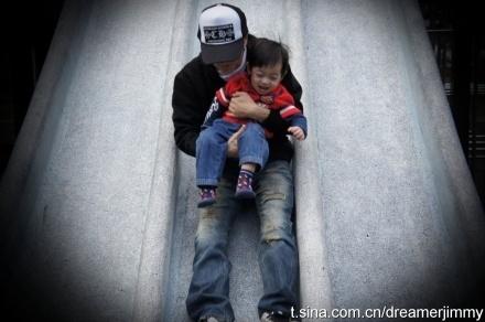 Lâm Chí Dĩnh và cậu con trai có biệt danh Tiểu Tiểu Chí.