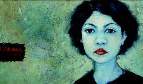 Một bức tranh chân dung tự họa của họa sĩ Nguyễn Thị Châu Giang.
