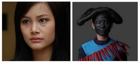 Nữ diễn viên Trần Thị Hạnh với tạo hình mẹ Chiêu Dương.