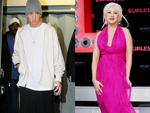 Sự kết hợp giữa Eminem và Christina Aguilera hứa hẹn tạo nên một bản song ca hấp dẫn. Ảnh: WEN.