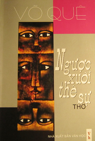 Bìa tập thơ mới nhất của Võ Quê.