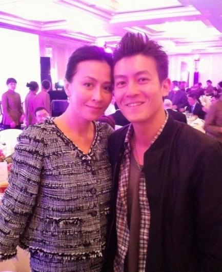 Lưu Gia Linh khá thân thiết với Quán Hy. Ảnh: Chinanews.