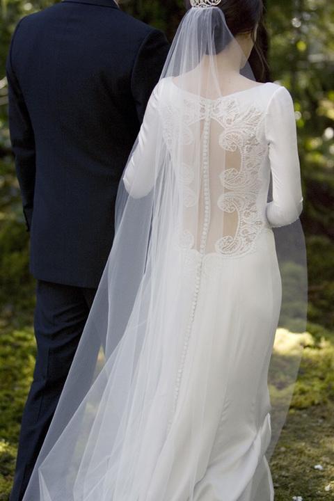 • Lấy cảm hứng từ chiếc váy cưới mà Pippa Middleton mặc trong đám cưới của Kate và hoàng tử William, nhà thiết kế Carolina Herrera đính 152 cúc tuyệt đẹp vào phía lưng váy, tạo thành một đường mềm mại kéo dài đến chân.