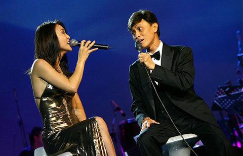 Tuấn Ngọc và vợ - ca sĩ Thái Thảo, con gái nhạc sĩ Phạm Duy.