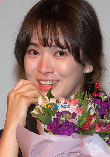 Nữ diễn viên Trái tim mùa thu rơi nước mắt vì hạnh phúc với giải thưởng diễn xuất đầu tiên.