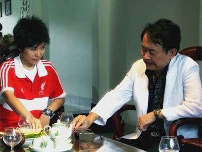 Kim Phượng (Phượng Đê) và Hai Nhất (Bảy Xoài) trong một cảnh phim của