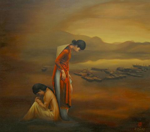 """Triển lãm tranh """"Giọt xuân"""" khai mạc lúc 16h ngày 4/2 tại Gallery Tự Do, số 53 Hồ Tùng Mậu, quận 1, TP HCM."""