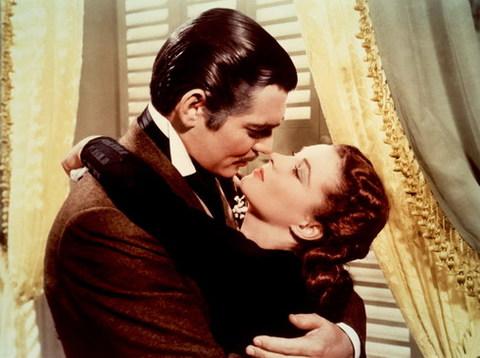 Tài tử Clark Gable và minh tinh Vivien Leigh trong phim