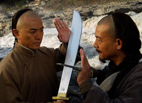 Trịnh Y Kiện trong cảnh quay võ thuật. Ảnh: