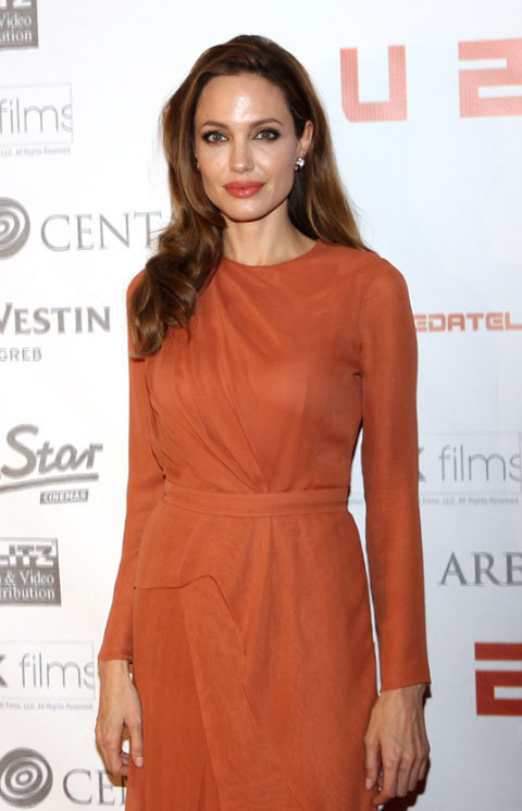 J. Mendel rust long-sleeve at Zagreb, Croatia, premiere