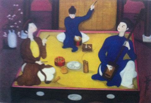 Một tác phẩm hội họa của Tạ Tấn.