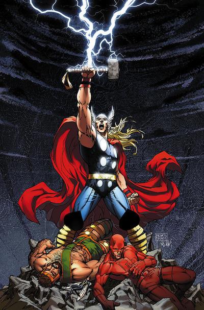 Sức mạnh của Thor phát ra từ cây búa sấm sét. Ảnh: Marvel.