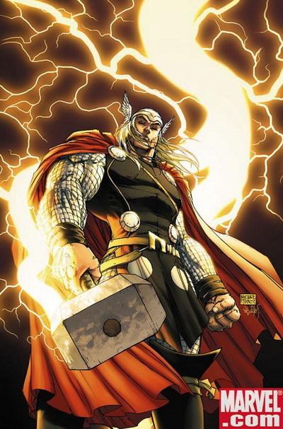 Tạo hình của nhân vật Thor trong truyện tranh. Ảnh: Marvel.