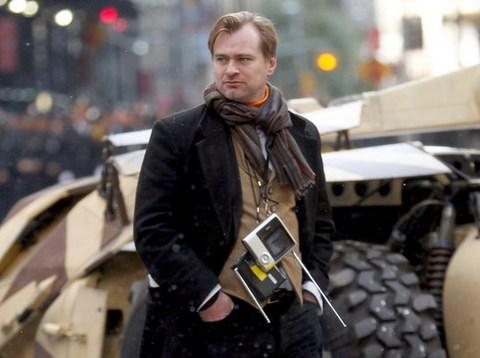 Đạo diễn Christopher Nolan, người biến Batman thành huyền thoại, trên trường quay