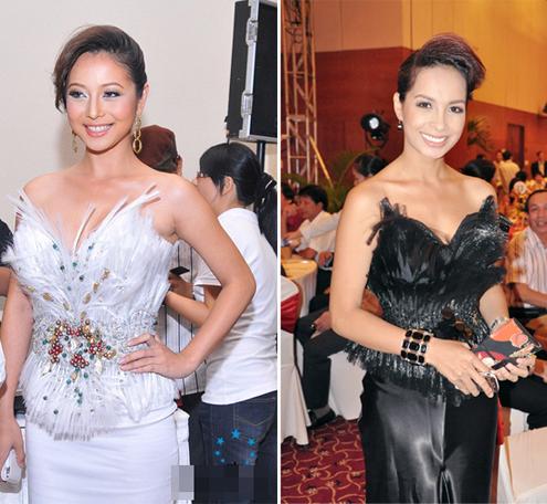 Jennifer Phạm và Thúy Hạnh.