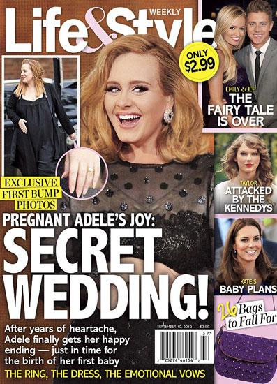 Hình ảnh mới nhất của Adele. Ảnh: Life & Style.