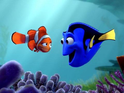 Marlin và người bạn đồng hành là nàng cá đãng trí Dory. Ảnh: Pixar.