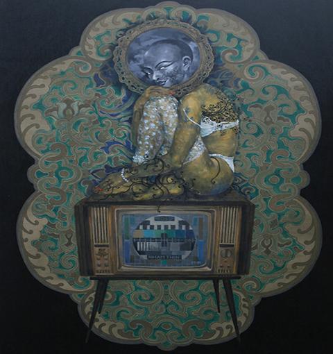Tự họa của họa sĩ Phạm Tuấn Tú.
