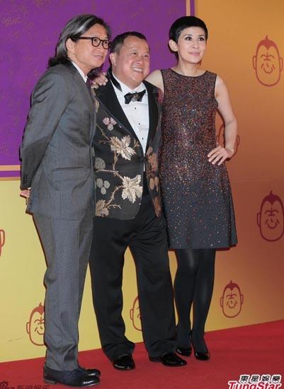 Từ trái sang, đạo diễn Trần Khả Tân, Tăng Chí Vỹ và Ngô Quân Như.