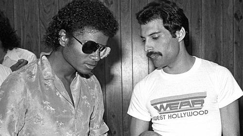Michael Jackson và Freddie Mercury năm 1980.