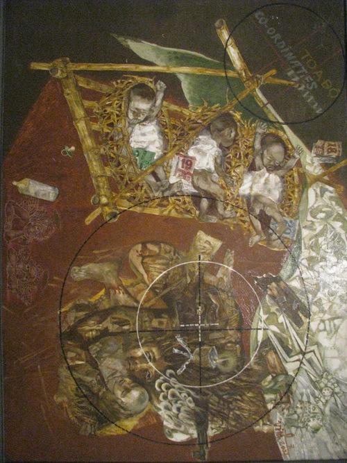 3. Trẻ sơ sinh trong địa đạo Vĩnh Linh (Sơn dầu- Nguyễn Thế Vinh)