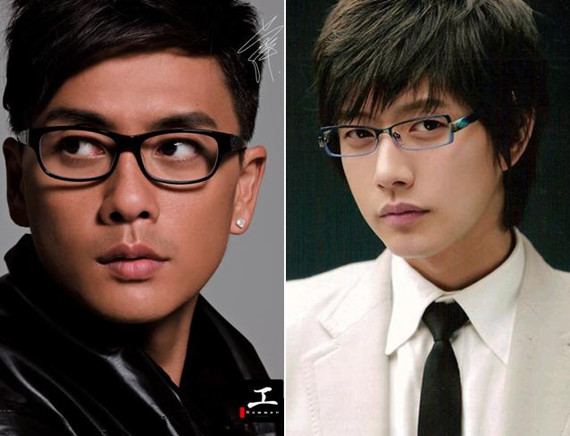 Huỳnh Tông Trạch (trái) và Park Hae Jin.