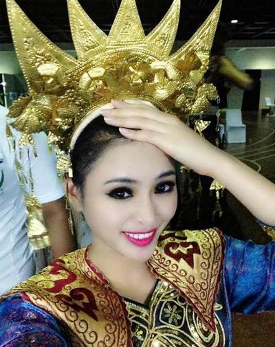 Hình ảnh Lại Hương Thảo trong đêm khai mạc Miss World 2013.