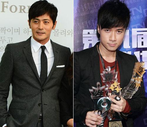 """Jang Dong Gun (bên trái) và Cổ Cự Cơ đều 42 tuổi. Tài tử """"Tân dòng sông ly biệt"""" trẻ hơn nhều so với tuổi thực."""