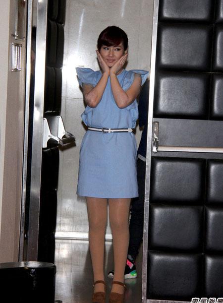Ca sĩ Selina mới đây tham gia một hoạt động ở Đài Loan.