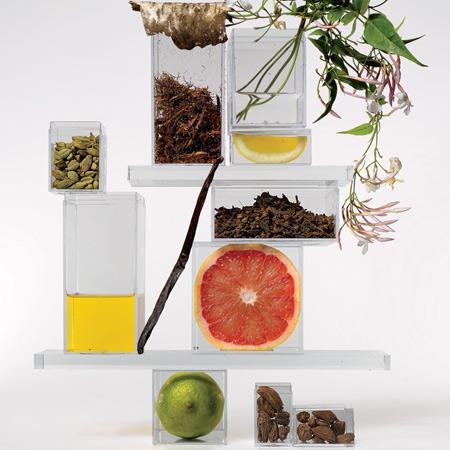 Nước hoa có nhiều hương thiên nhiên khác nhau như hoa quả, gỗ, rễ cây...