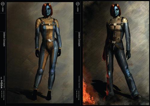 Tạo hình của nhân vật Mystique trong phim.