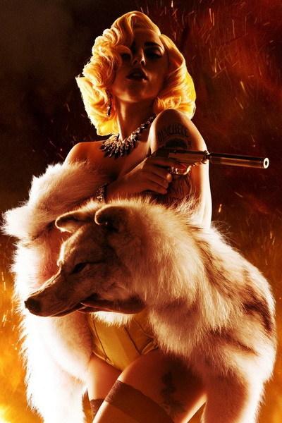 Tạo hình sexy của Lady Gaga trong vai nữ sát thủ La Chameleon. Ảnh: A Company.