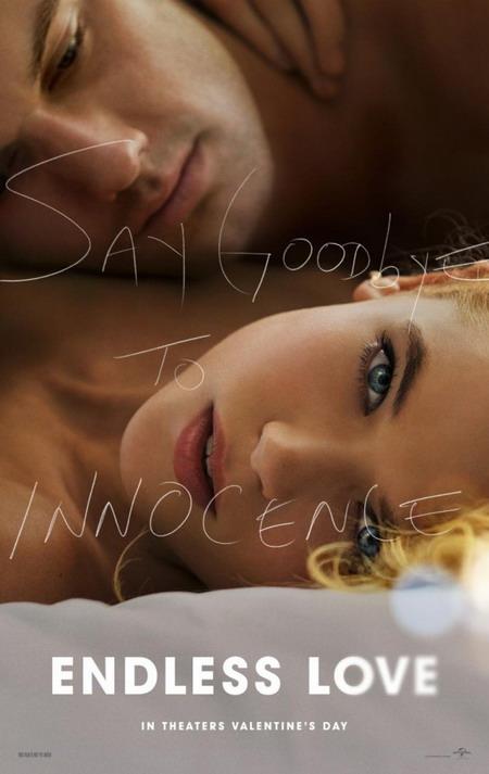 """Poster lãng mạn và nóng bỏng của """"Endless Love""""."""